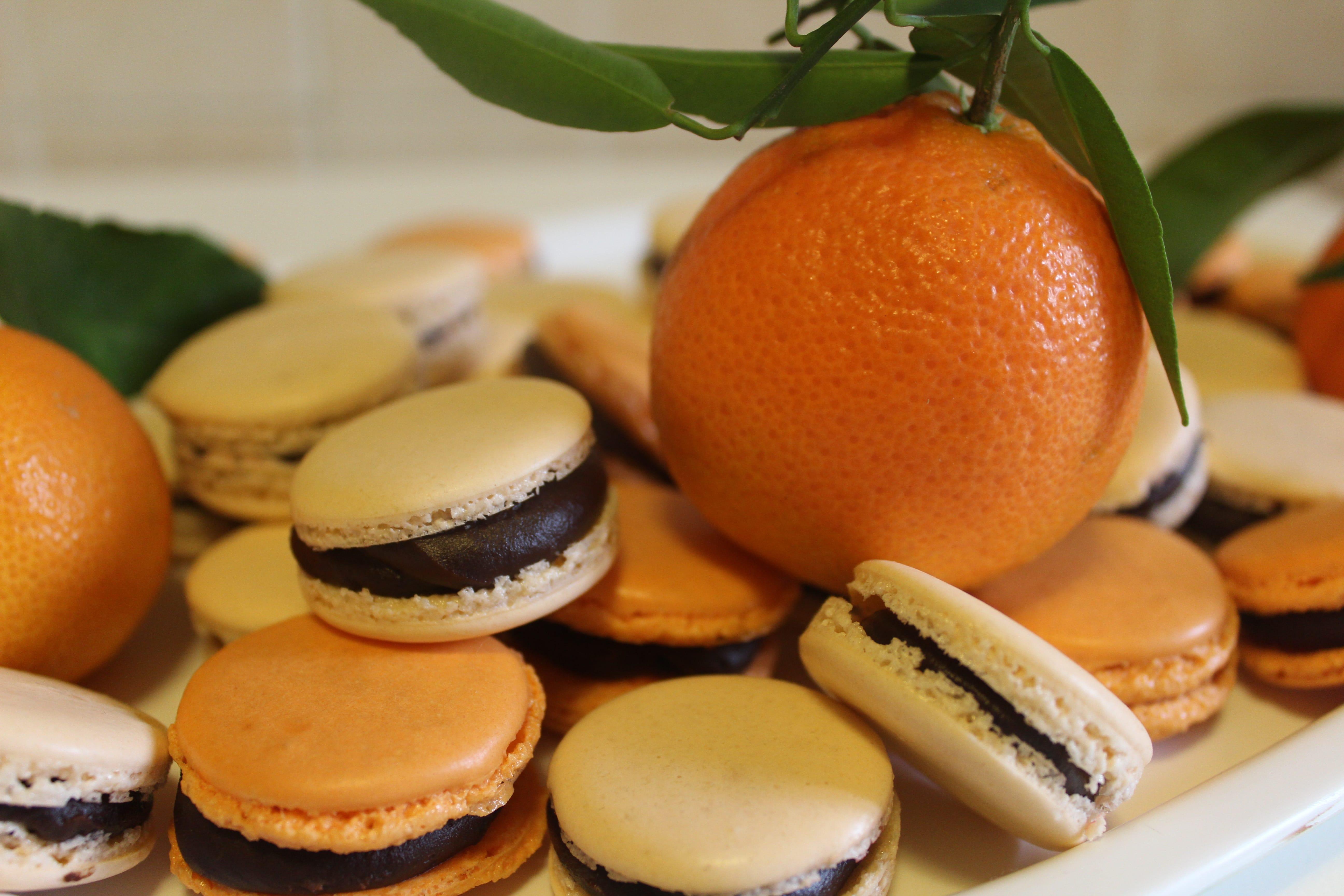 macarons cioccolato e clementine
