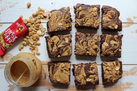 brownies al burro di arachidi e cioccolato