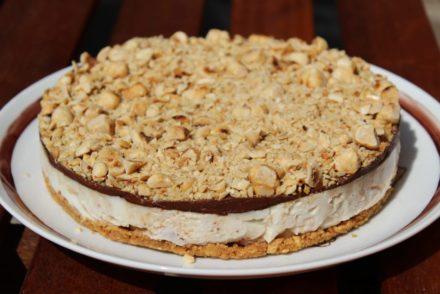cheesecake burro di arachidi e Nutella