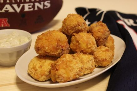 nuggets di pollo con salsa al gorgonzola