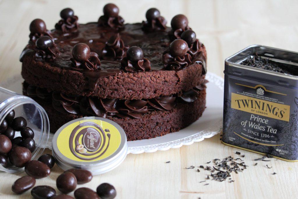 Torta al cioccolato fondente senza uova e burro