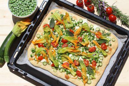 focaccia con verdure di stagione