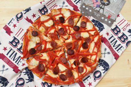 pizza salame e peperoni