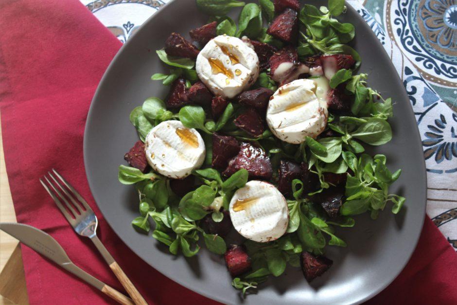 insalata di barbabietole e tomini