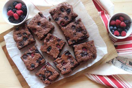 brownies al cioccolato e lamponi