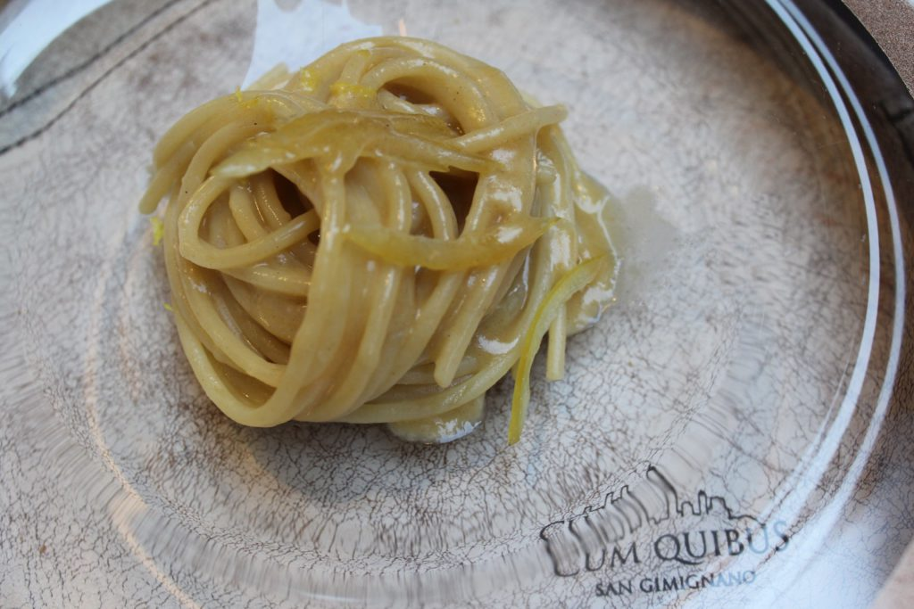 spaghetto mancini con burro e dashi