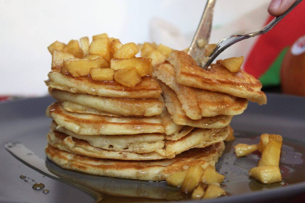 fetta di pancakes senza uova