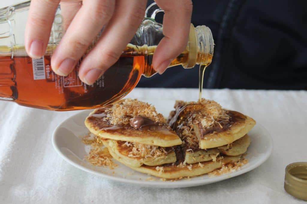 pancakes e sciroppo d'acero