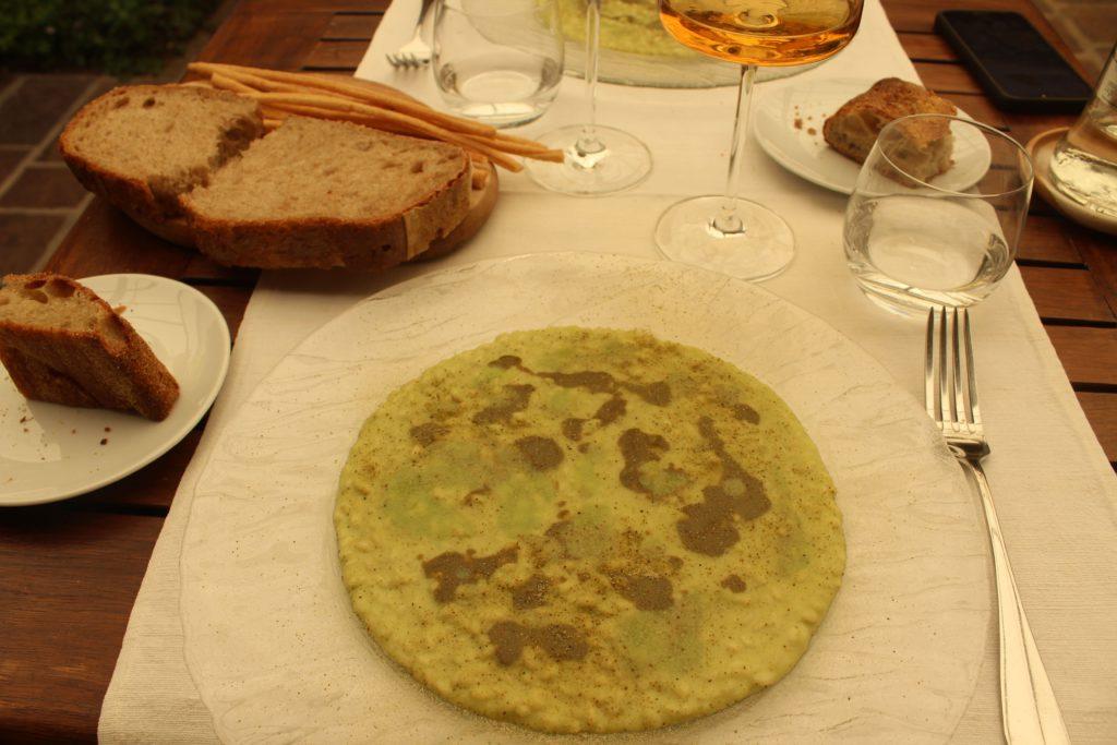 risotto con fave e ostriche
