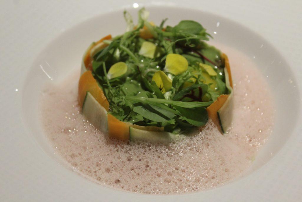 salmone affumicato con verdure