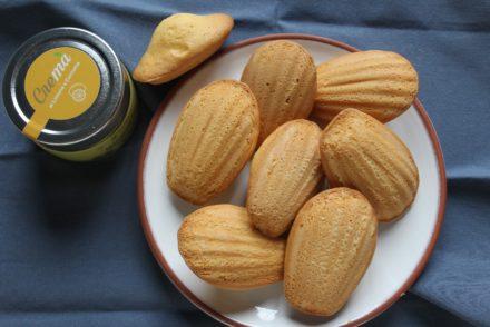 madeleine al limone e mandorle