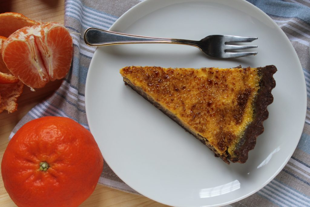 crostata creme brulée alle clementine
