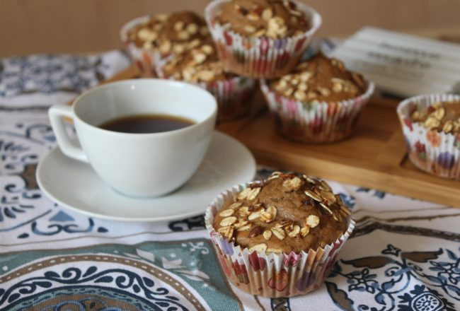 muffin al caffè e yogurt