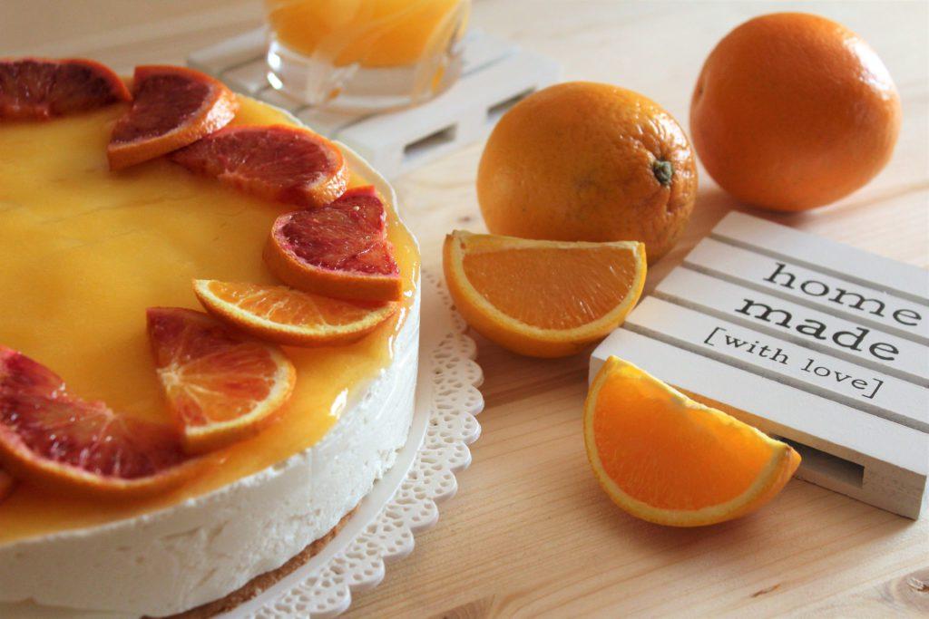 torta mousse con arance tarocco