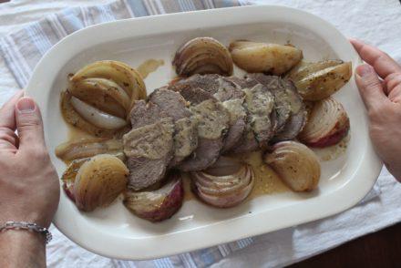 arrosto di vitello con cipolle di breme