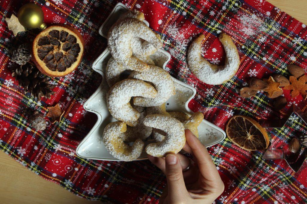 biscotti cornetti alla vaniglia per Natale