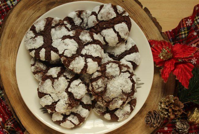 crinkle cookies al cioccolato