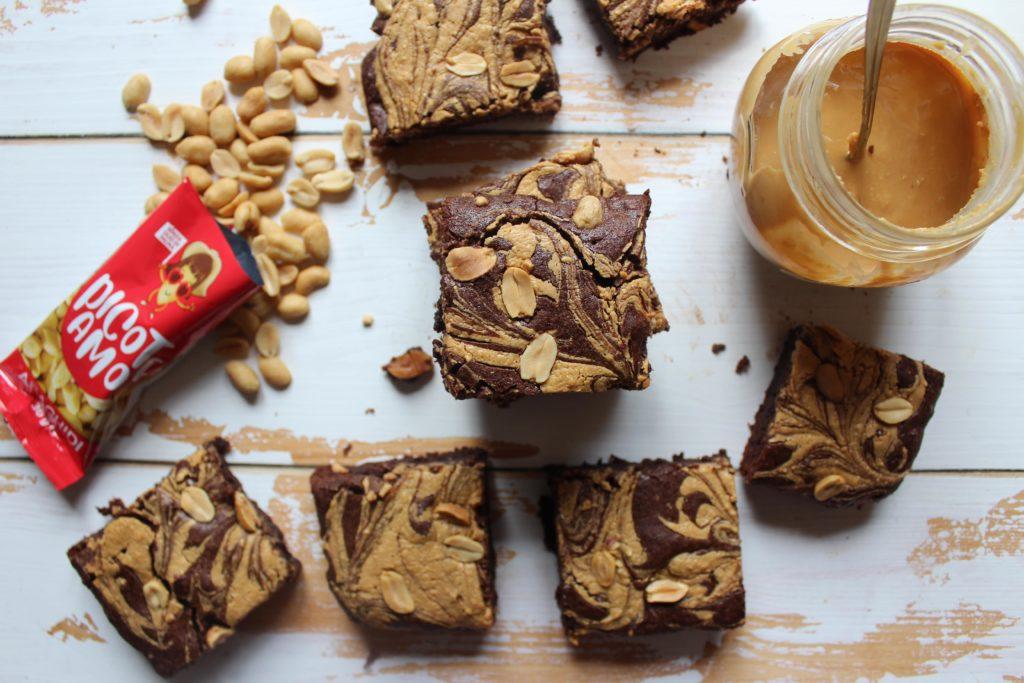brownies con burro di arachidi