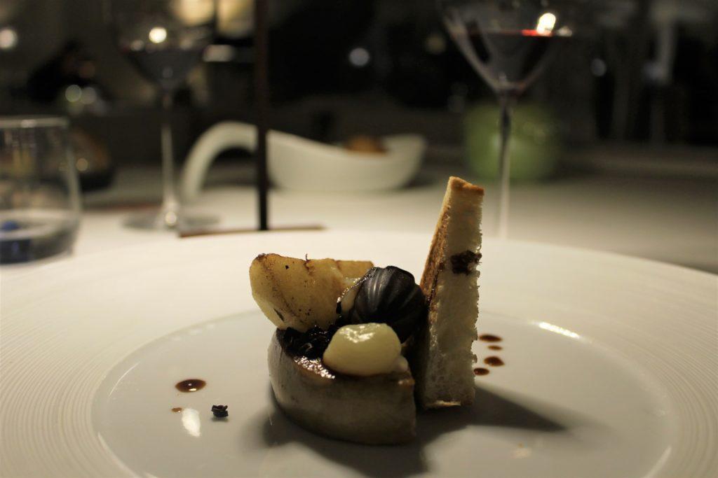 foie gras con cioccolato e pere