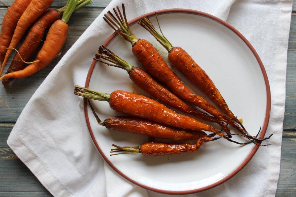 carote glassate al miele al forno