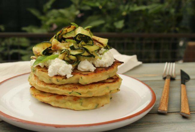 pancakes salati con ricotta e zucchine